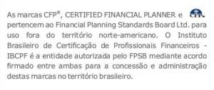 Disclaimer CFP